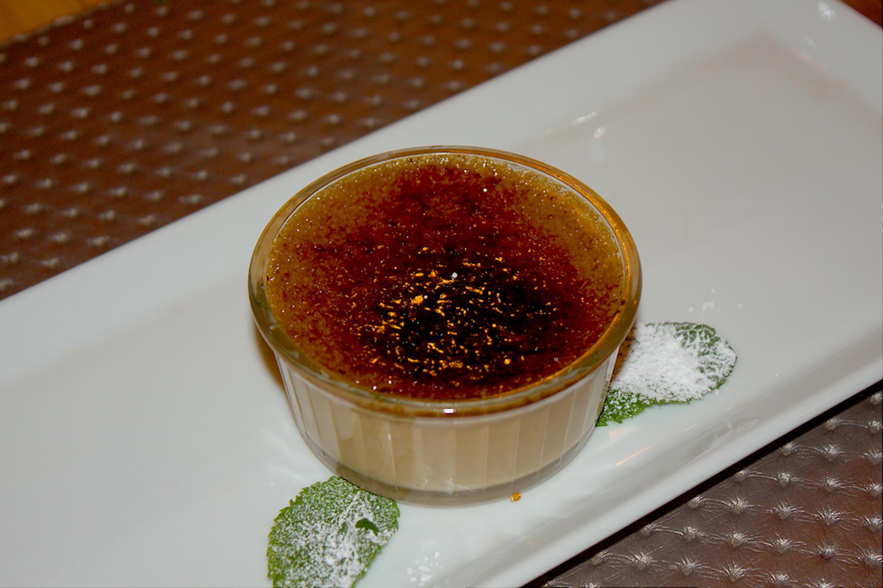 Crème brulée alla liquirizia