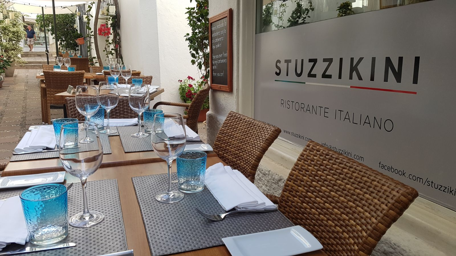 Street View of Stuzzikini Restaurant in Marbella Old Town